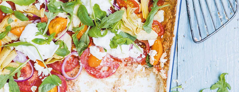 Bloemkoolpizza met tomaten en kaas van Marjolein Dubbers