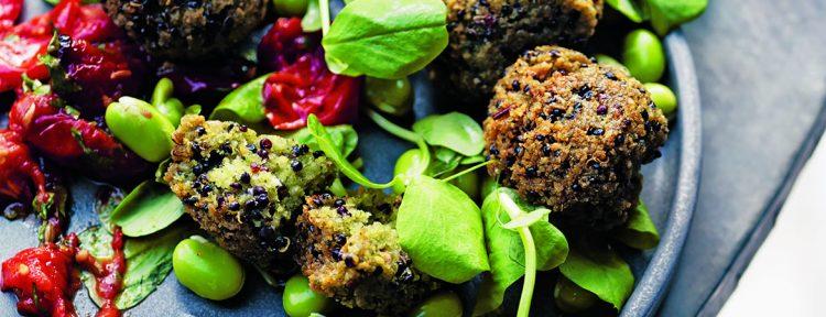 Falafel van quinoa en tuinbonen met citroen - Gezond aan tafel - recept