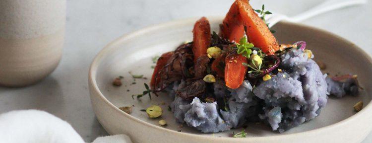 Hutspot met ras el hanout, tijm en pistachenootjes - Gezond aan tafel - recept