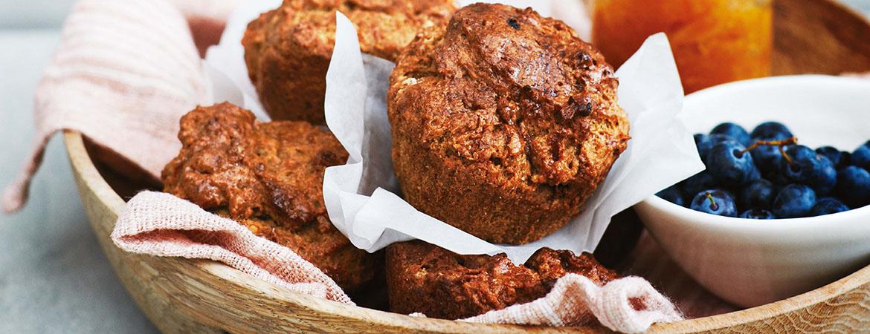 Muffins van zoete aardappel en vijfkruidenpoeder
