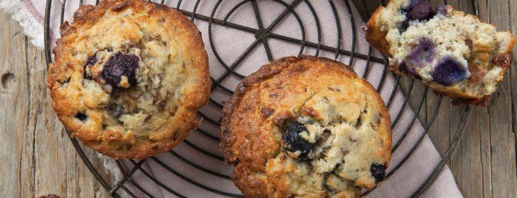 Ontbijtmuffin met amandelen en bosbessen - Gezond aan tafel - recept