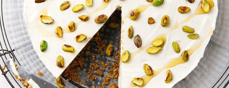 Yoghurt mascarpone taart met pistachenoten - Gezond aan tafel - recept