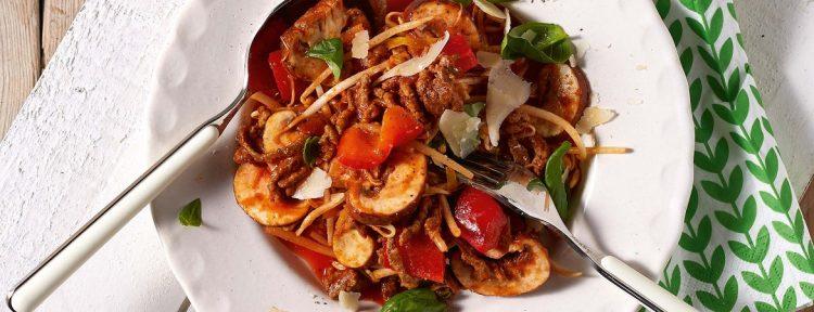 Courgettespaghetti van Yvonne Lemmers - Gezond aan tafel - recept