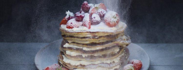 Frambozen pannenkoekjes (van Kim Feenstra en Benine Bijleveld uit 'Food talk') - Gezond aan tafel - recept