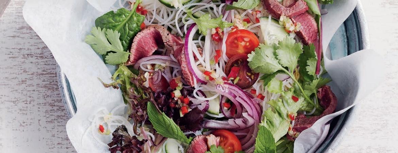 Thaise salade met rundvlees