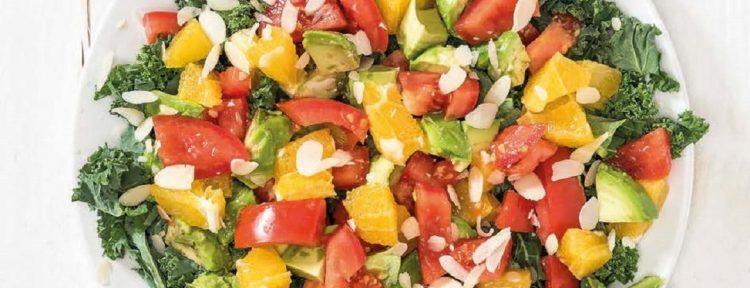 Boerenkool met sinaasappel, tomaat en avocado - Gezond aan tafel - recept