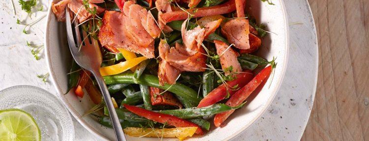 Vissalade met sperzieboontjes (Yvonne Lemmers) - Gezond aan tafel - recept
