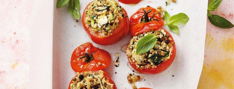 Gevulde tomaten met quinoa en linzen - Gezond aan tafel