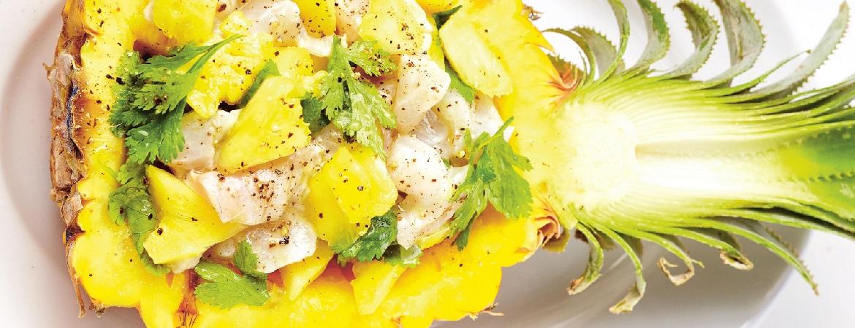 Tartaar van dorade met ananas