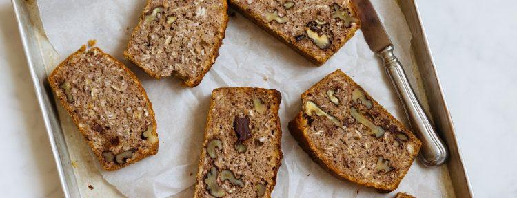 Bananenbrood met walnoten - Gezond aan tafel - recept
