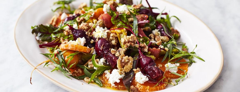 Bietjes met mandarijnen en geitenkaas (Jamie Oliver)