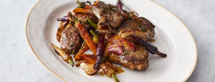 Lamskoteletten met wortels (Jamie Oliver) - Gezond aan tafel - recept