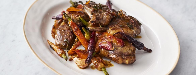 Lamskoteletten met wortels (Jamie Oliver)