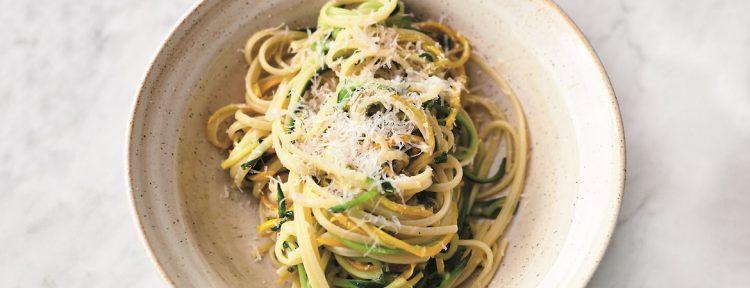 Linguine met courgette en citroen (Jamie Oliver) - Gezond aan tafel - recept