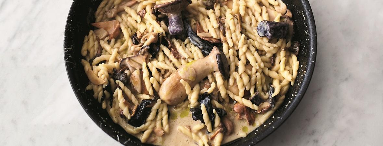 Pasta met paddenstoelen en knoflook (Jamie Oliver)