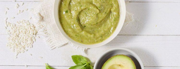 Risotto met avocado, champignons en tomaat (babyhapje) - Gezond aan tafel - recept