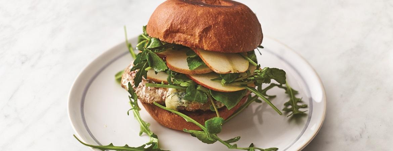 Varkensburger met salade (Jamie Oliver)