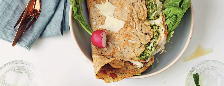 Pannenkoeken van boekweit-quinoa-gerstmeel