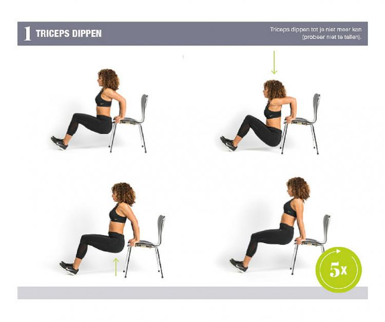 Fajah Lourens triceps dippen - Gezond aan tafel - blog