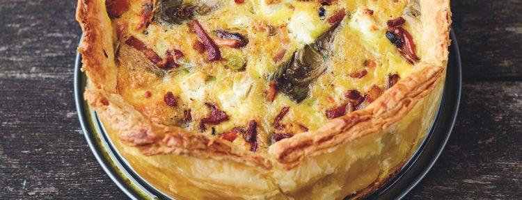 Quiche met mosselen, artisjok en geitenkaas - Gezond aan tafel - recept