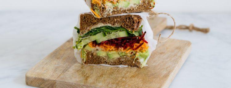 Veggie sandwich - Gezond aan tafel - recept