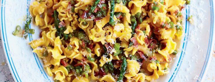 Gigli met parmaham & asperges - Gezond aan tafel - recept