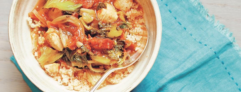 Stoofschotel met kip en couscous