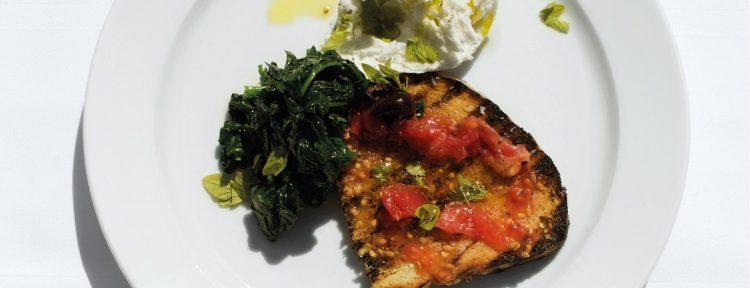 Bruschetta met mozzarella en spinazie - Gezond aan tafel - recept