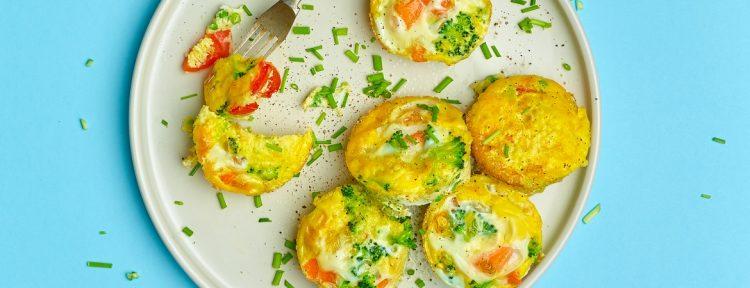 Groentecakejes met ei - Gezond aan tafel - recept
