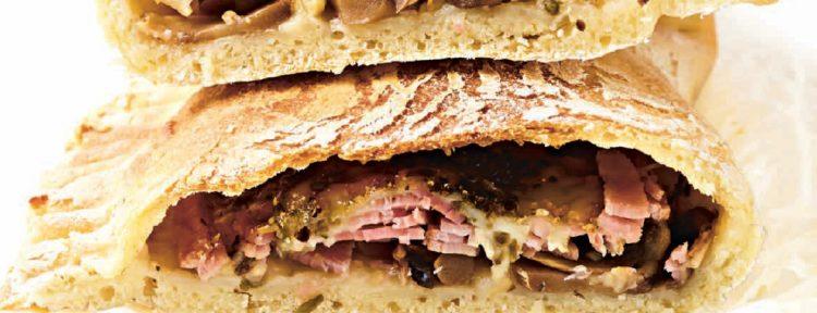 Ham-champignoncalzone - Gezond aan tafel - recept