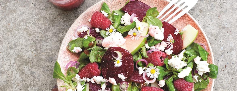 Zomerse salade met framboos