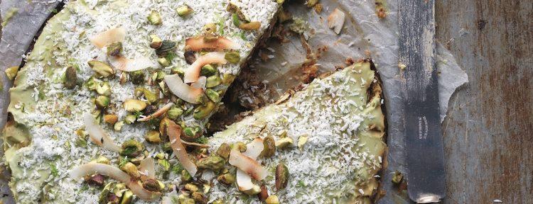 Courgettetaart met avocado limoencrème - Gezond aan tafel - recept
