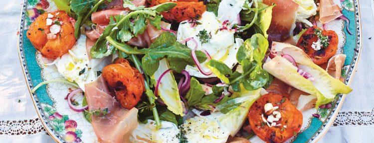 Gegrilde-abrikozensalade (Jamie Oliver) - Gezond aan tafel - recept