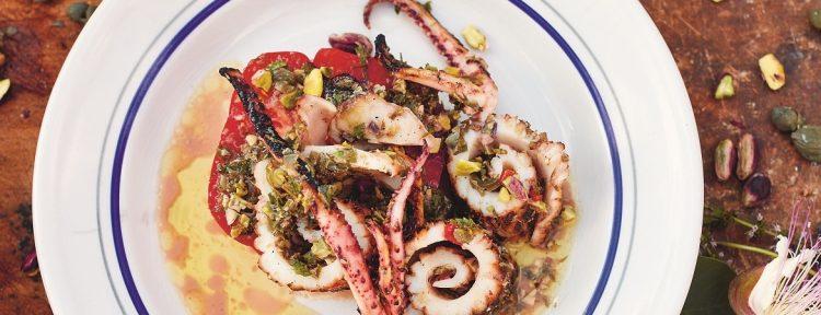 Gegrilde-inktvissalade (Jamie Oliver) - Gezond aan tafel - recept