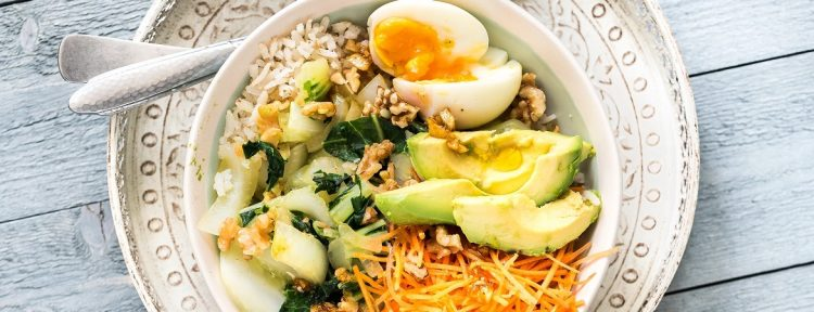 Paksoi-bowl met zilvervliesrijst - Gezond aan tafel - recept