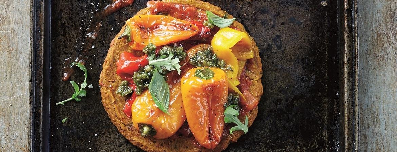 Pizza van pompoendeeg