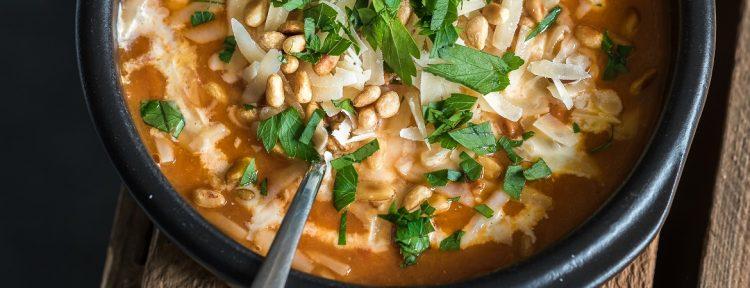 Prei-tomatensoep - Gezond aan tafel - recept