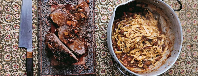 Stracotto – langzaam gegaarde rundvleesragu (Jamie Oliver)