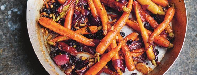 Wortelcaponata (Jamie Oliver) - Gezond aan tafel - recept