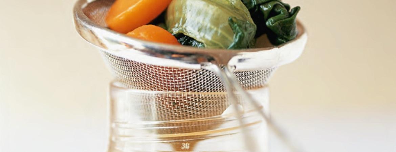 Bouillon van wortels en peterselie