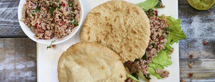 Pita met mas uni - Gezond aan tafel - recept