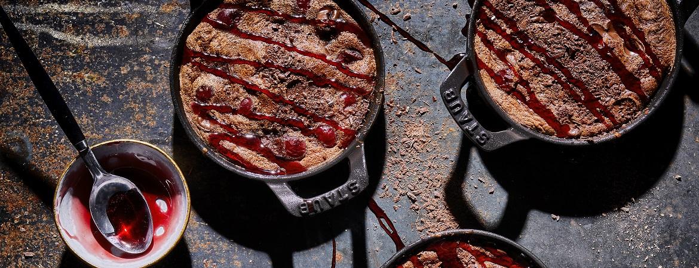 Cherry chocolate clafoutis