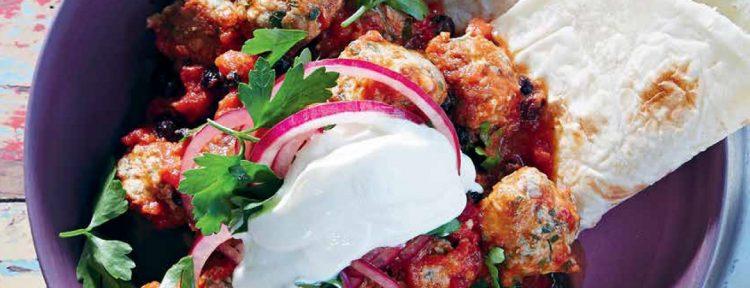 Kalkoenballetjes met Turkse smaken - Gezond aan tafel - recept