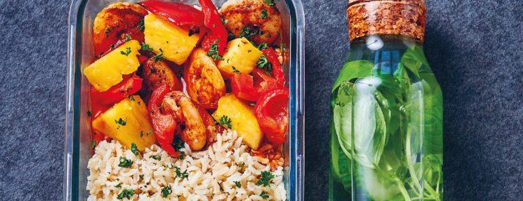 Scampi met ananas - Gezond aan tafel - recept