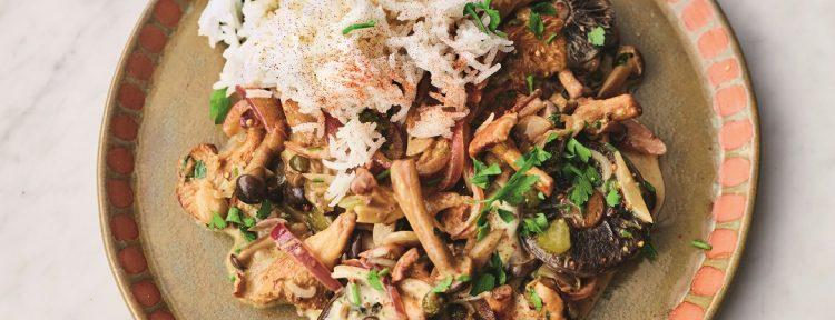 Paddenstoelen stroganoff (Jamie Oliver) - Gezond aan tafel - recept