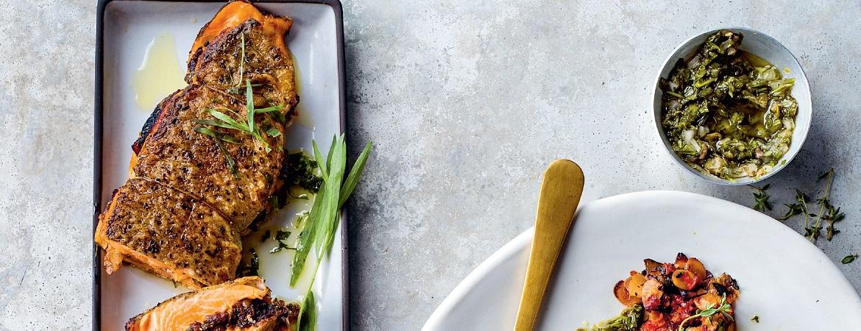 Perzische gevulde vis uit de oven