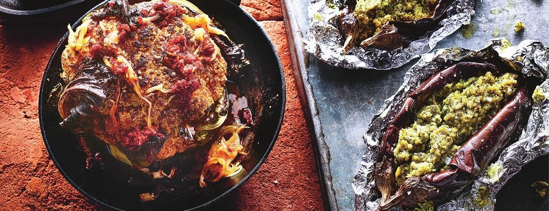 Bloemkool uit de oven met gekaramelliseerde uien