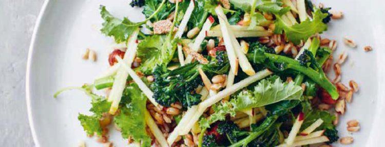 Parelspelt met appel, bimi & hazelnoten - Gezond aan tafel - recept