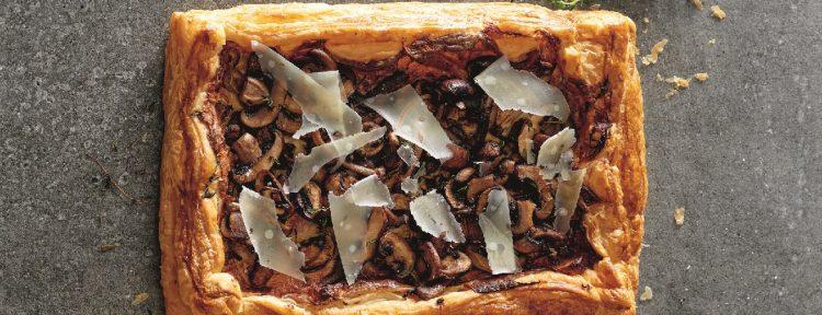 Plaattaart met champignons - Gezond aan tafel - recept
