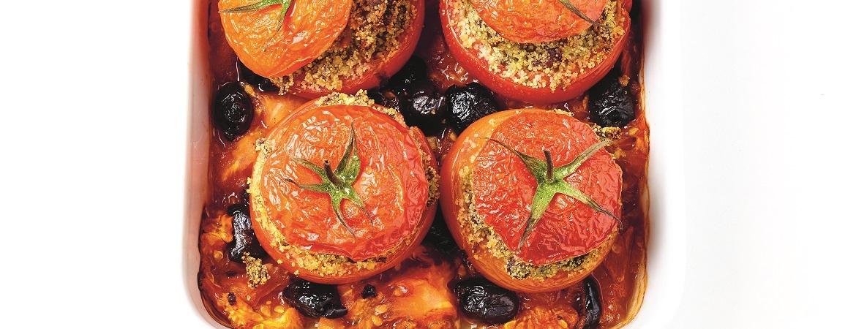 Gevulde tomaten met rundertapenade